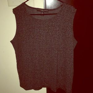 Gray cheetah print tank
